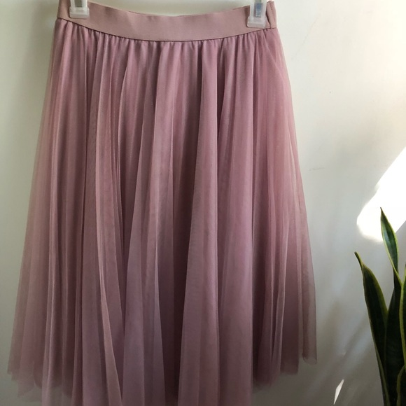 official images top-rated original best sneakers Mauve dusty rose tulle midi skirt NWT